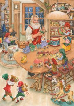 Santa's Toy Shop Christmas Jigsaw Puzzle