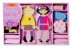 Hailey & Hannah Magnetic Dress-Up Set People Toy
