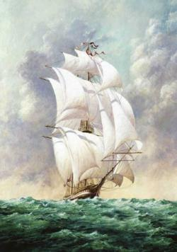 Sailboat 2 Seascape / Coastal Living Jigsaw Puzzle