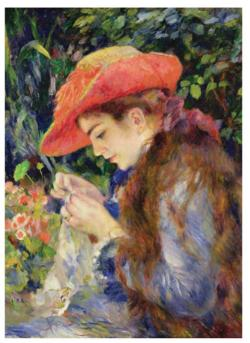 Knitting Marie Fine Art Jigsaw Puzzle