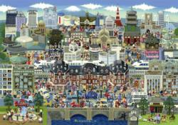 Tokyo Attractions Cities Jigsaw Puzzle