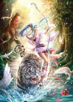 Arrow Of Light Tigers Jigsaw Puzzle