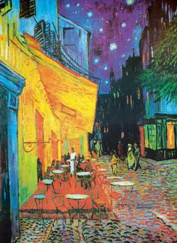 Café Terrace At Night Fine Art Jigsaw Puzzle