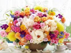 Flower Café Flowers Jigsaw Puzzle