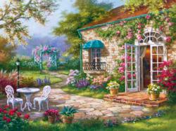 Spring Patio 2 Domestic Scene Jigsaw Puzzle