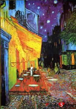 Cafe Terrace Night On The Place Night Jigsaw Puzzle