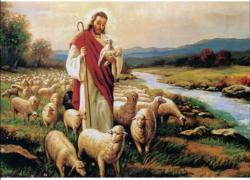 Jesus Sheep Religious Jigsaw Puzzle