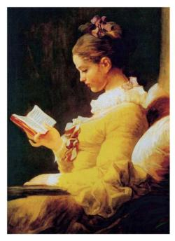 Lady Reads A Book Fine Art Jigsaw Puzzle