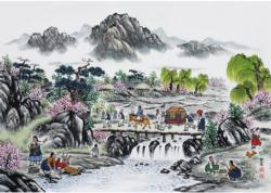 Married Day Korea Asian Art Jigsaw Puzzle