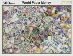 Paper Money Collage Impossible Puzzle