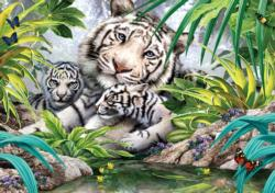 White Tiger Family Tigers Jigsaw Puzzle