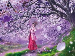 Sakura Kaze Flowers Jigsaw Puzzle