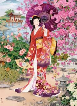 Garden Asian Art Jigsaw Puzzle