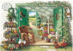 Flower Shop Shopping Jigsaw Puzzle