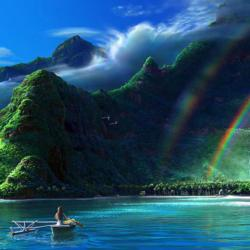 Prism Island Seascape / Coastal Living Jigsaw Puzzle