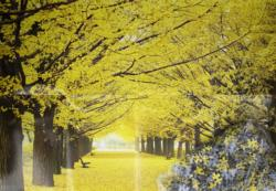 Ginko Parkway Landscape Jigsaw Puzzle