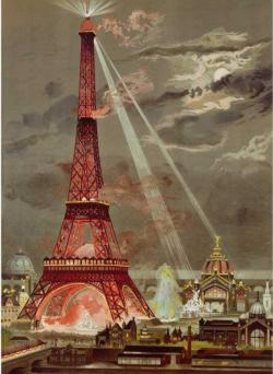 Embrasement De La Tour Eiffel Pour L'Exposition Universelle De 1889 Night Jigsaw Puzzle