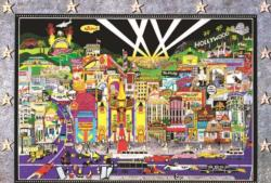 City Night Hollywood Night Jigsaw Puzzle