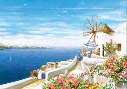 Santorini 2 Seascape / Coastal Living Jigsaw Puzzle