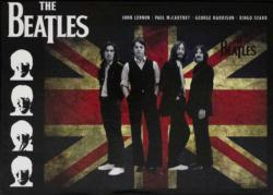 The Beatles Union Jack United Kingdom Jigsaw Puzzle
