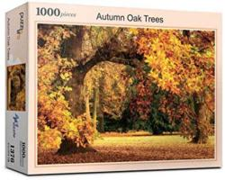Autumn Oak Tree Landscape Jigsaw Puzzle