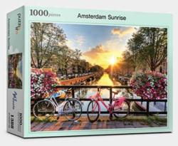 Amsterdam Sunrise Morning Bicycles Jigsaw Puzzle