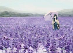 Memory Of A Lavender Garden Garden Jigsaw Puzzle