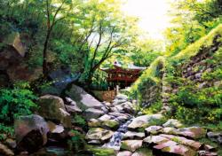 Road To Seonunsa Lakes / Rivers / Streams Jigsaw Puzzle