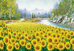 Sunflower In Hometown Sunflower Jigsaw Puzzle