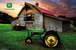 John Deere - Flag Sunrise/Sunset Poster