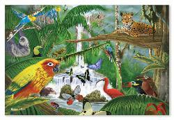 Rain Forest Majesty - 48pc Floor Puzzle Jungle Animals Children's Puzzles