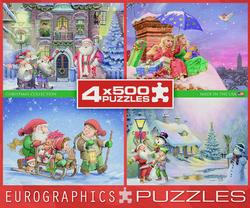 The Christmas Collection - 4pk Christmas Jigsaw Puzzle