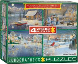 Holiday Deluxe Puzzle Set Christmas Multi-Pack