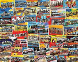 Postcards Collage Jigsaw Puzzle