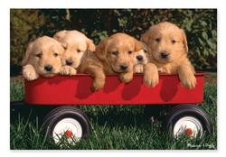 Puppy Wagon Dogs Jigsaw Puzzle