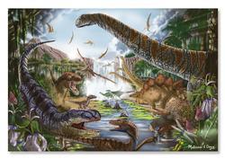 Prehistoric Waterfall Dinosaurs Jigsaw Puzzle