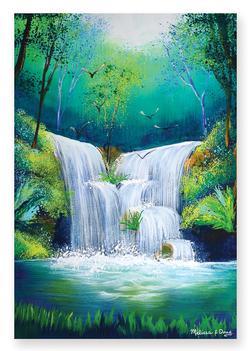 Woodland Waterfall Waterfalls Jigsaw Puzzle