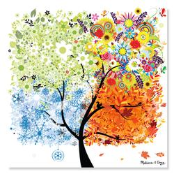 Seasons Tree Winter Jigsaw Puzzle
