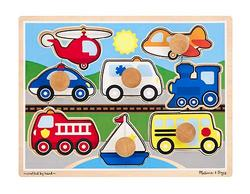 Vehicles - Jumbo Knob Puzzle Vehicles Peg Puzzle