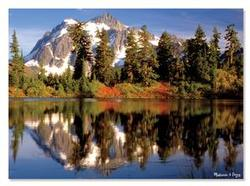 Mountain Reflection Lakes / Rivers / Streams Jigsaw Puzzle
