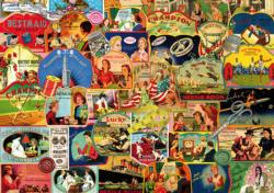 Vintage Needlebooks Collage Jigsaw Puzzle