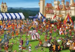 Knights' Tournament Cartoons Jigsaw Puzzle