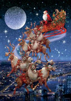 Santa's Sleigh - Scratch and Dent Christmas Jigsaw Puzzle