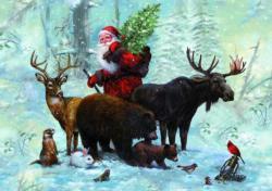 Santa's Team Christmas Jigsaw Puzzle