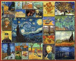 Great Painters - Vincent Van Gogh Collage Jigsaw Puzzle