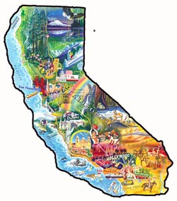 Sun and Fun California United States Shaped