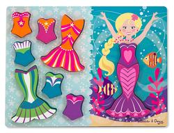 Mermaid Dress-Up Chunky Puzzle Mermaids Wooden Jigsaw Puzzle