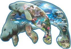 Manatees - Scratch and Dent Lakes / Rivers / Streams Jigsaw Puzzle