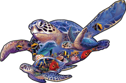 Swimming Lesson Under The Sea Shaped Puzzle