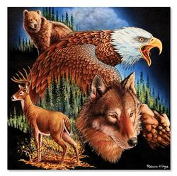 King of the Mountain Wildlife Jigsaw Puzzle